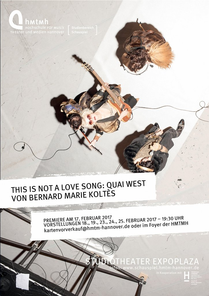 """""""This Is Not A Love Song: Quai West"""" Plakat"""